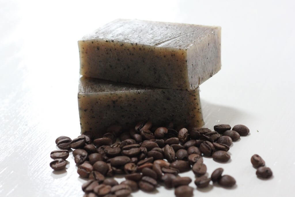 coffee grounds used as a body scrub