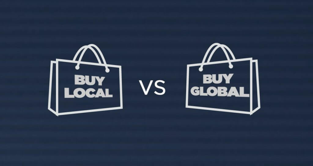 local suppliers - local vs global
