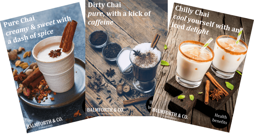 coffee offers - chai tea range