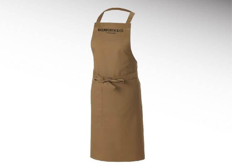 branded barista apron